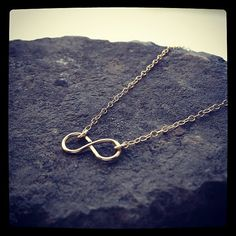 Dainty 9K Gold Handmade Infinity Necklace by cocowagner. Handmade - Show Your Love Is Infinite, Never-Ending....