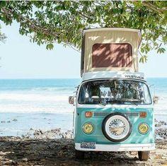 New volkswagen campers van campervan camping Ideas Vw Camper Bus, Volkswagen Transporter, Transporteur Volkswagen, Vw Caravan, Vw T1, Vw California Beach, Vw Beach, Honda Shadow, Combi Hippie