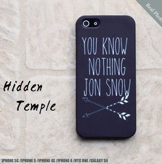You Know Nothing Jon Snow Game Of Thrones iPhone by HiddenTemple, $19.99