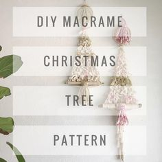 Christmas Tree, Oh Christmas Tree! // I created a DIY Macrame Christmas Tree Pattern. It's a great design that you can personalize with your yarn choices. Add ribbons and bells and lights, or whatever you can think of to make it special. Please tag a friend who may be interested in making one. Link in profile or go to reformfibers.etsy.com