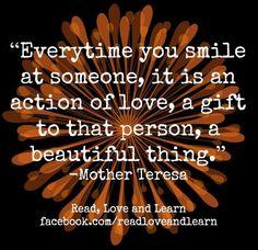 Smile quote via www.Facebook.com/ReadLoveandLearn