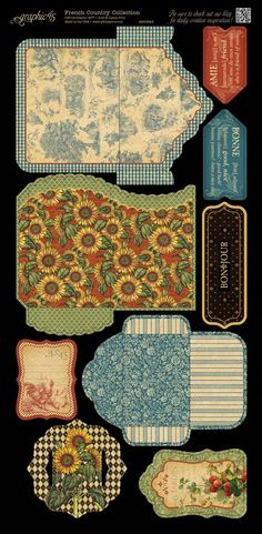 Here we have the marvelous coordinating Cardstock Tags & Pockets from French Country. New to Graphic 45! Look for it in stores in February. #graphic45 #sneakpeeks #CHAW2013