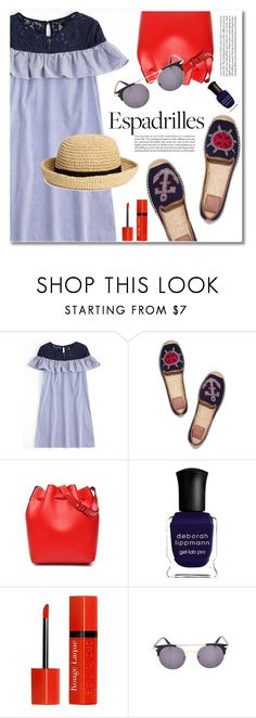 """Step into Summer: Espadrilles"" by fshionme ❤ liked on Polyvore featuring Tory Burch, H&M, Deborah Lippmann, Bourjois and espadrilles"