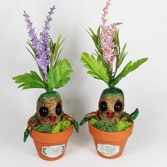 Potted Mandrake Art Dolls by Jackie Harder