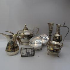 A COLLECTION OF OLD IRAQI SILVER AND NIELLO DECORATION الفضة العراقية المطعمة بالمينا السوداء شغل اهل الصبة