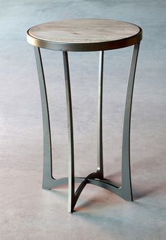 Lotus Drink Table - Hand made in USA by Charleston Forge, Boone NC. http://www.charlestonforge.com/drink_tables.htm