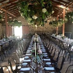 Wedding set up in the Woolshed at Peregrine Winery #artisancatering