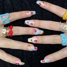 Nail Inspo, Cute Nails, Acrylic Nails, Girl Outfits, Polish, Claws, Beauty, Pretty Nails, Baby Clothes Girl