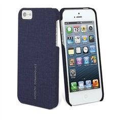 Carcasa iPhone 5 Navy Blue - Adolfo Dominguez. Una perfecta carcasa trasera para proteger y dar diseño a tu iPhone 5.