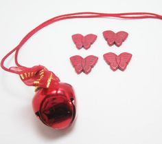 4 Red Butterfly Howlite Insect Beads Large by OverstockBeadSupply, $1.35