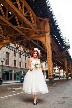 Vintage Americana Chicago Wedding Ruffled