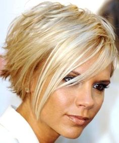 As soon as I get to goal I am getting my hair cut like this...currently I have  longer bob. Love this funky style. Great for exercise too.