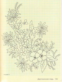 adorable floral outline - for wood panel project