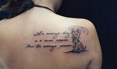 Nice dog quote tattoo