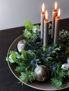 Advent DIY l Adventskranz zu Weihnachten basteln ❤ Elegant Christmas Decor, Decoration Christmas, Christmas Trends, Xmas Decorations, Christmas Inspiration, Christmas Time, Holiday Decor, Christmas Colors, Modern Christmas