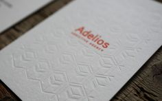 carte de visite, letterpress, embossage, business card, octopus letterpress studio