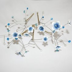 flower blossom hair pins by artruly | notonthehighstreet.com