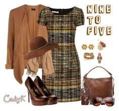 """""""Nine To Five"""" by cody-k ❤ liked on Polyvore featuring Oscar de la Renta, Frye, Casetify, Gucci, Topshop and H&M"""