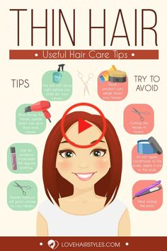 35 Incredible Hairstyles for Thin Hair Incredibly Cool Hairstyles For . - Tart - 35 Incredible Hairstyles for Thin Hair Incredibly Cool Hairstyles For . 35 Incredible Hairstyles for Thin Hair Incredibly Cool Hairstyles For Thin Hair Infographic Thin Hair Styles For Women, Curly Hair Styles, Natural Hair Styles, Thin Hair Haircuts, Messy Hairstyles, Everyday Hairstyles, Wedge Hairstyles, Office Hairstyles, Anime Hairstyles