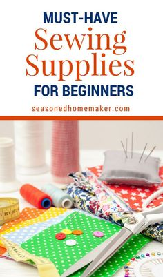 Beginning sewists can be challenged by not knowing what sewing notions to buy. I've gathered The Best Sewing Supplies for Beginners. These are great for Christmas and Mother's Day! #sewingsupplies