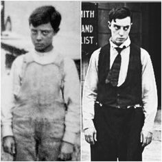 Celebrities Then And Now, Young Celebrities, Vintage Hollywood, Classic Hollywood, Charlie Chaplin Old, Buster Keaton, Dark Photography, Vintage Photography, Silent Comedy