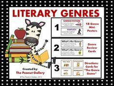 Genres Of Literature Posters