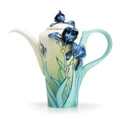 Franz Porcelain Collection Van Gogh Iris Flower Teapot
