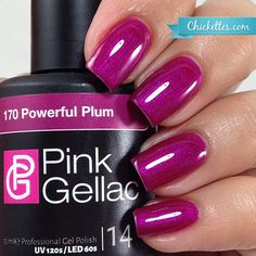 Pink Gellac Powerful Plum - Fall 2015 Majestic Collection - Chickettes.com