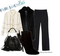 Keep your outfit from looking like a costume, by wearing a strong 70's piece with something very now.