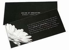 Faire part de mariage Gerbera Noir et Blanc E Invite, Invitations, Grand Jour, Marie, Cards Against Humanity, Gerbera Wedding, White People, Save The Date Invitations, Shower Invitation