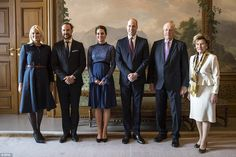 Kate's baby bump was on full display as she joined her hosts (L-R) Crown Princess Mette-Ma...