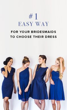 Make sure your bridesmaids, stay your besties! Let them help you choose the dress. Sign up and shop on Weddington Way!