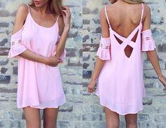 Sexy sling strapless pink dress WE53004PO