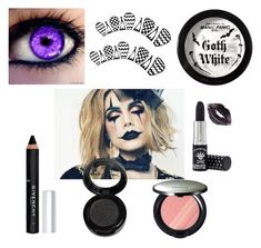 """""""The Clown's Secret Eyes"""" by freefreak ❤ liked on Polyvore featuring beauty, Givenchy, Manic Panic NYC, Kanebo, Halloween and makeup"""
