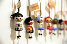 Cokets.. like peg dolls but another folkart wooden doll type