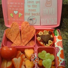Valentine's Day bento laptop lunch *heart shaped tortillas*