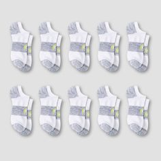 0875eff80 Women s 10pk Super No Show Athletic Socks - C9 Champion White 5-9