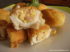 Caceroladas: Huevos rellenos rebozados