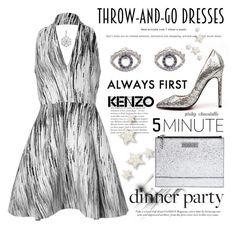 """Easy Peasy - Throw-and-Go Dresses: 16/08/16 (WGC)"" by pinky-chocolatte ❤ liked on Polyvore featuring Kenzo, Gianvito Rossi and DB Designs"