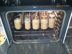 Oven canning, Canning food preservation, Canning recipes, Canning Canned food, Canning tips - How to Can Dry Goods in the Oven - Home Canning Recipes, Canning Tips, Oven Canning, Cooking Recipes, Canning Water, Pressure Canning Recipes, Canning Salsa, Oven Recipes, Canning Food Preservation