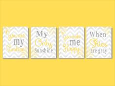 You are my sunshine - Baby Quote - Nursery