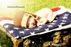 Newborn Fourth of July session Fb: Kristy Kahle Photography Kansas Photographer