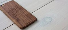 """Wodnut iphone 6 Plus wood cover """"Always Believe, Never Give up"""""""