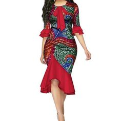 Fashion Vestidos African Dresses for Women Bazin Riche Bow Knot Patchwork Dress African Dashiki Dress, Short African Dresses, African Fashion Dresses, Fashion Outfits, Fashion Ideas, African Blouses, African Outfits, Fashion 101, Cheap Fashion