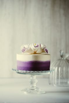 Ube-Macapuno Ombre Cake by Nicole Uy. pronounced ooh-beh, it's a purple yam found in the Philippines and very popular in desserts. Pretty Cakes, Beautiful Cakes, Baking Cupcakes, Cupcake Cakes, Köstliche Desserts, Delicious Desserts, Rapunzel Cupcakes, Taro Cake, Purple Food