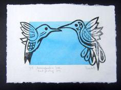 Hummingbirds in Love by Violeta Damjanovic-Behrendt