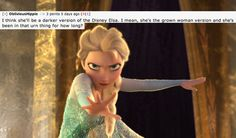 """Some feel Elsa will end up being a villain. 