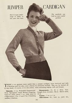 Wayward Creating: Free Vintage Knitting Pattern