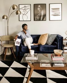 Personal And Professional Development, Blue Couches, Business Photos, Work Life Balance, Beautiful Space, Home Organization, Sweet Home, Living Room, Furniture