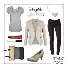 Taupe ist eine tolle Farbe um mit dem Businnesslook nicht zu dick aufzutragen! Die helle Farbe ist frisch und zugleich edel. Mit dem lockeren Shirt im edlen Silber triffst du die perfekte Casualchic Mischung! Ein bisschen Farbe bringst du mit dunkelrotem Lippenstift ins Spiel. Taupe Officewear / Beige Officewear / Silver Officewear / Casualchic Office / taupe Blazer / silver Shirt #officewear #casualchic | Stylefeed
